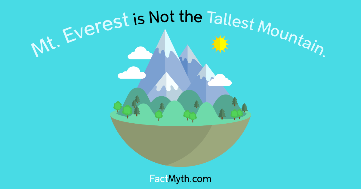 Is Mount Everest the Tallest mountain?