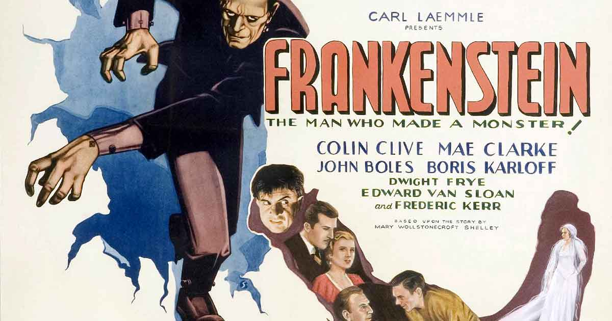 Was Frankenstein's monster green with bolts?