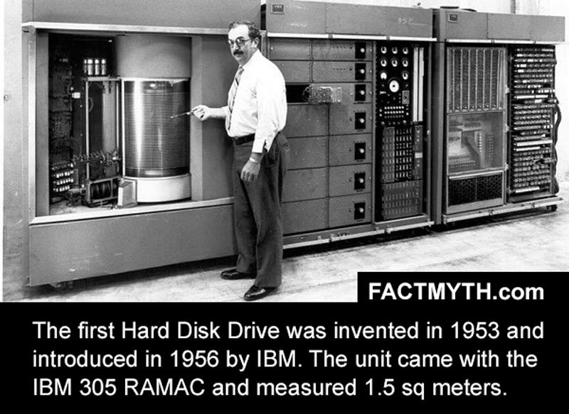 The First Hard Drive Was Announced in 1956