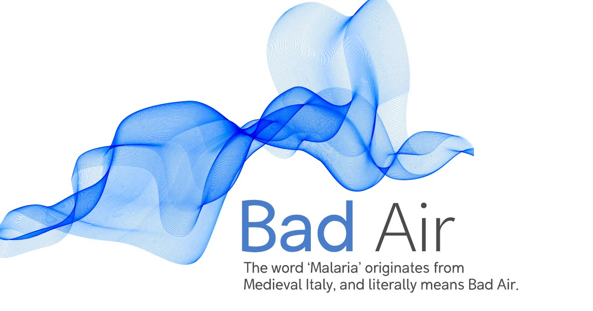 The term Malaria means bad air