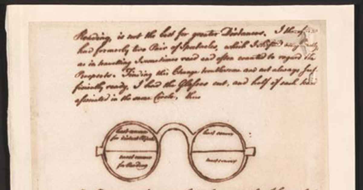 Franklin's letter to Whatley describing bifocals.