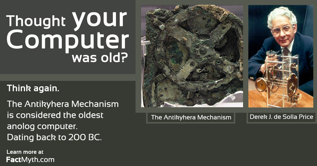 The Antikythera Mechanism is the Oldest Analog Computer