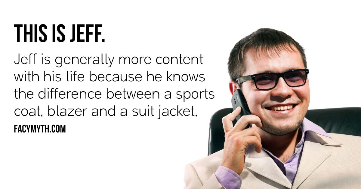A Sports Jacket Improves Appearance and Perception