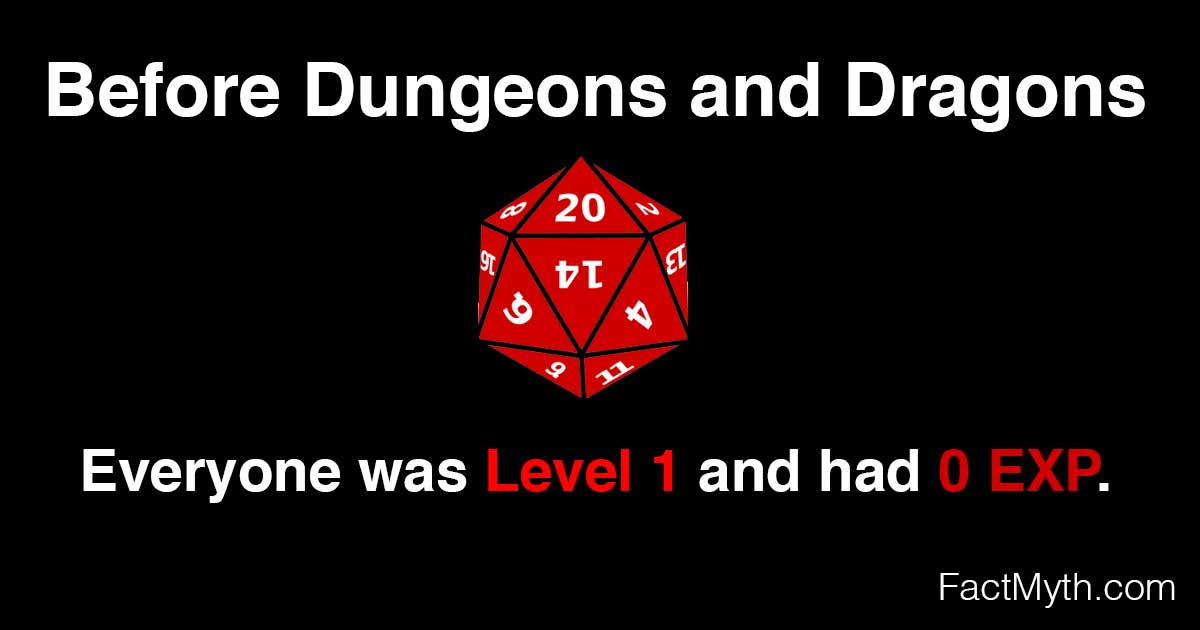 Dungeons and Dragons Was the First Game to Feature EXP and Leveling Up