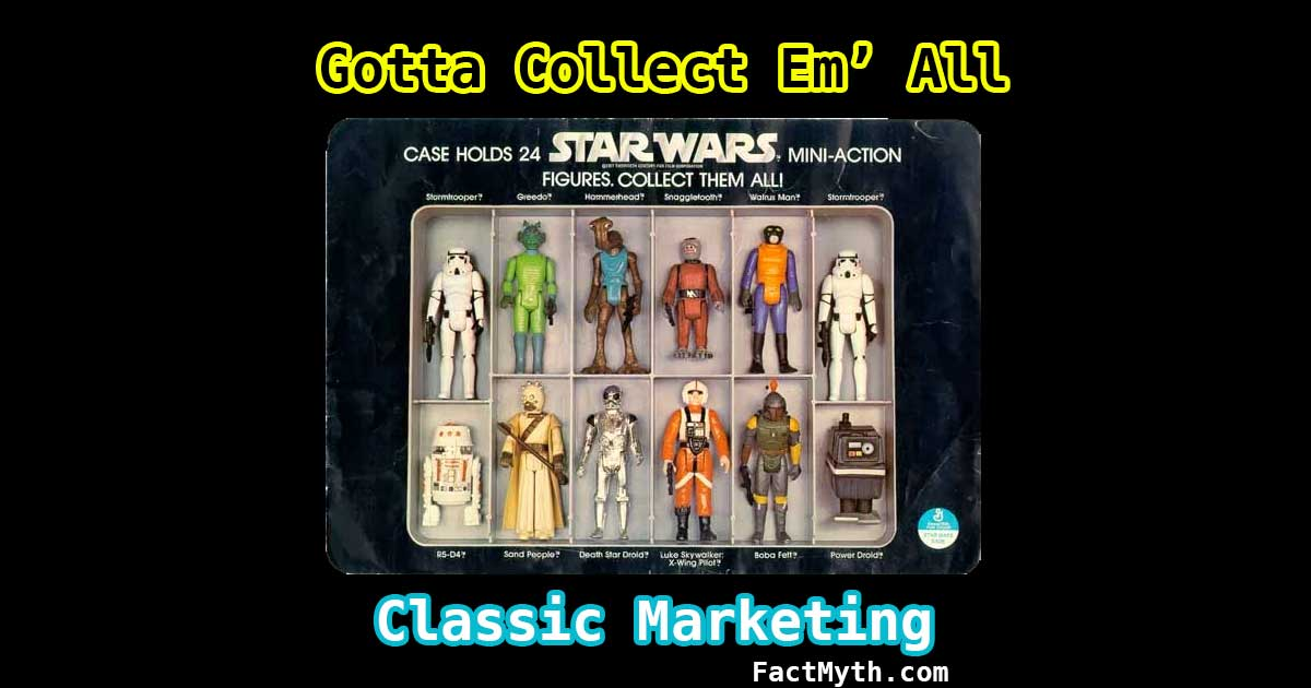 Star Wars created the collectible action figure craze.