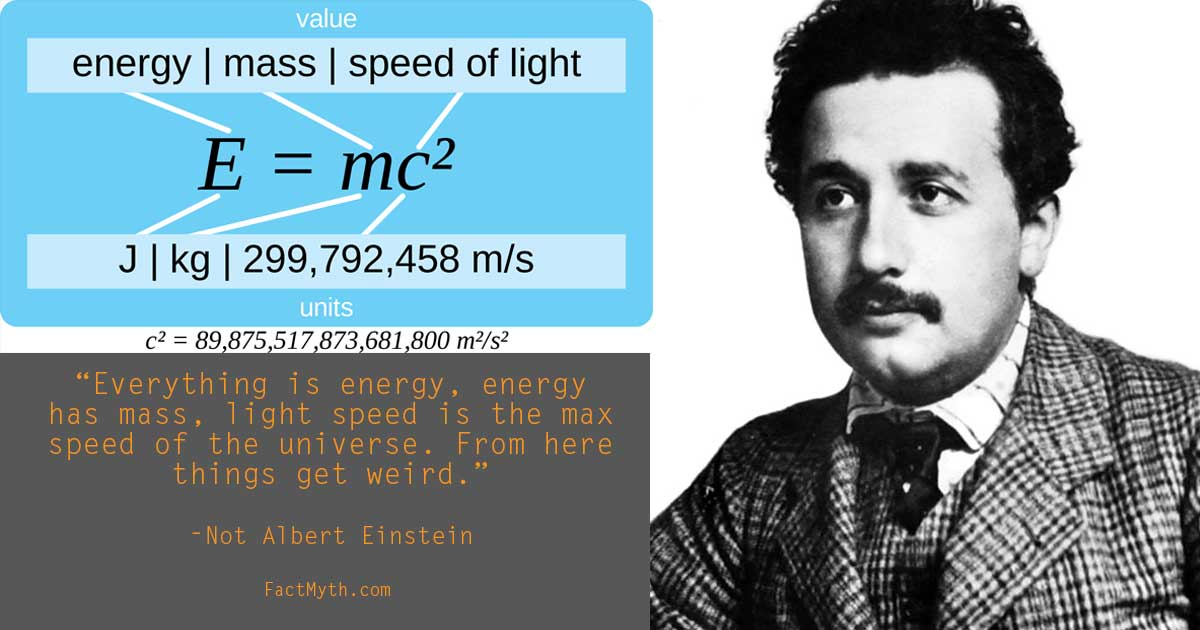 What does e=mc2 mean?