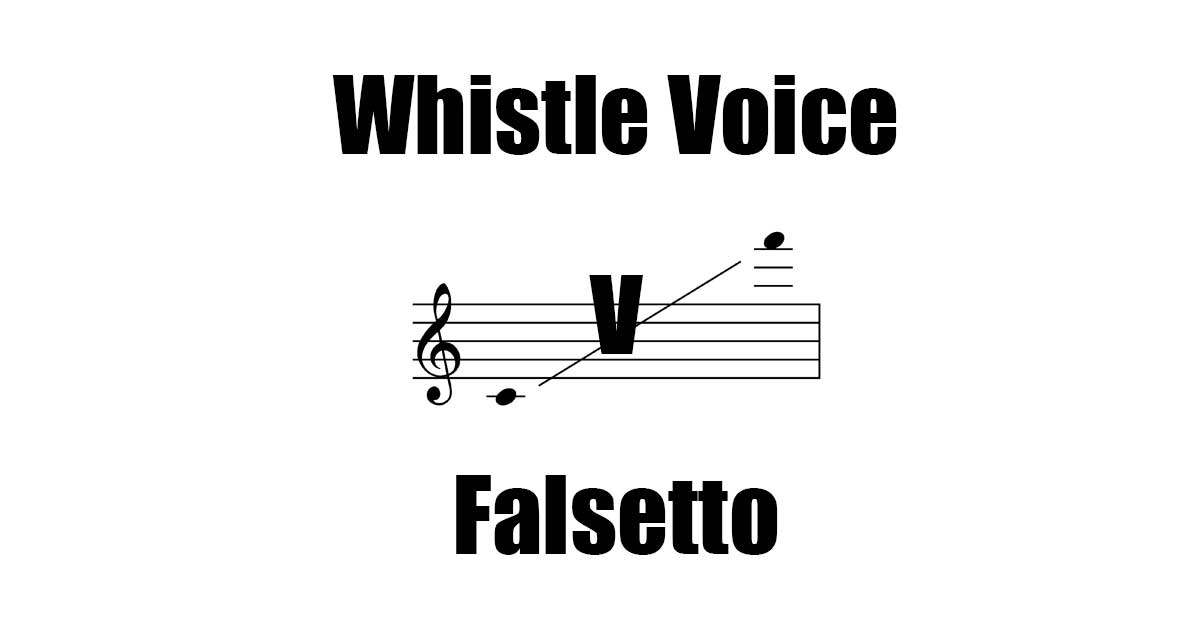 Whistle Voice is Different than Falsetto