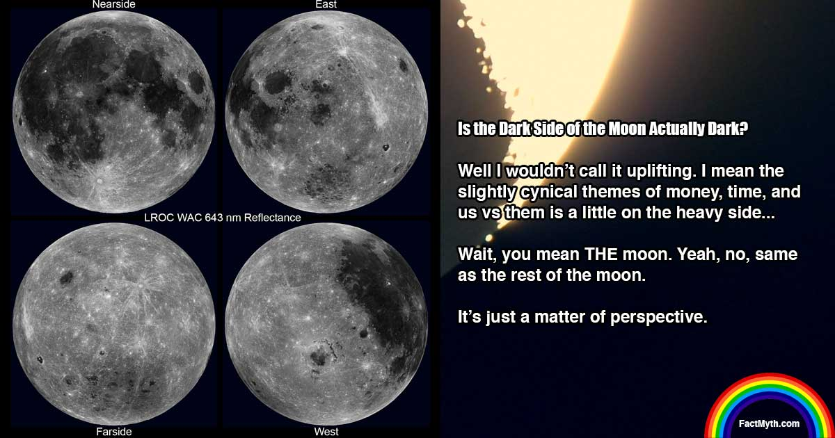 Is the Dark Side of the Moon Always Dark?