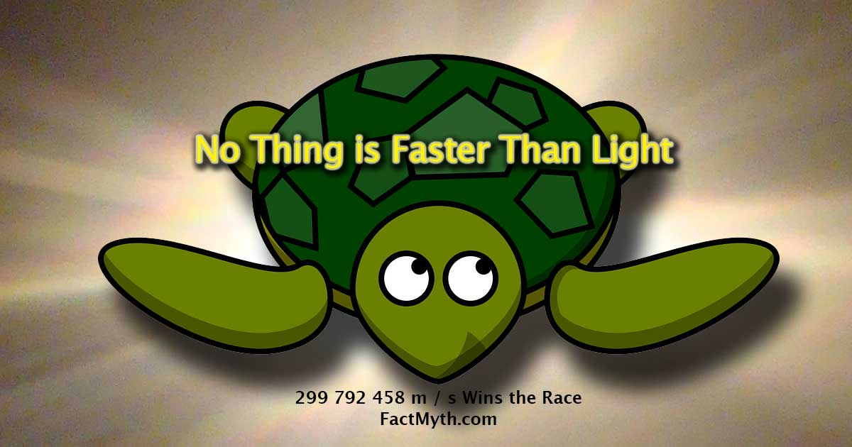 No Thing is Faster Than Light
