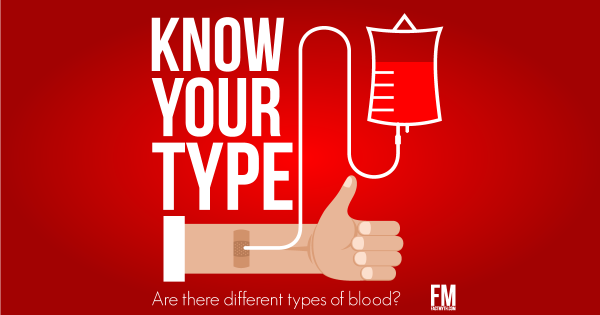 There are different Blood Types