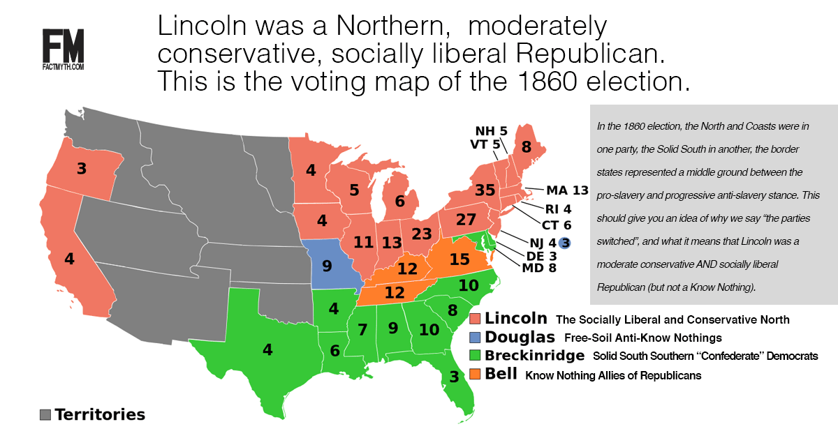 A Summary Of How The Major Parties Switched Fact Myth - Us political party map