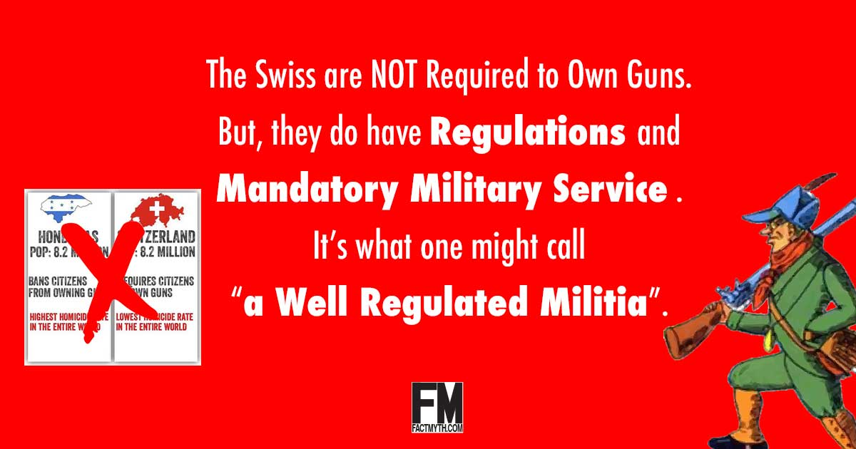 Are the Swiss Required to Own Guns?