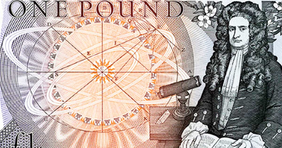 Issac Newton One Pound Note