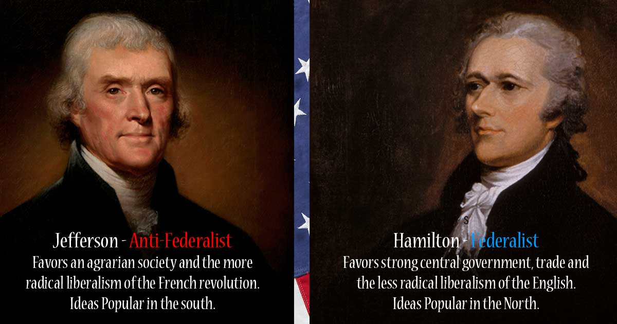 jefferson vs hamilton debate