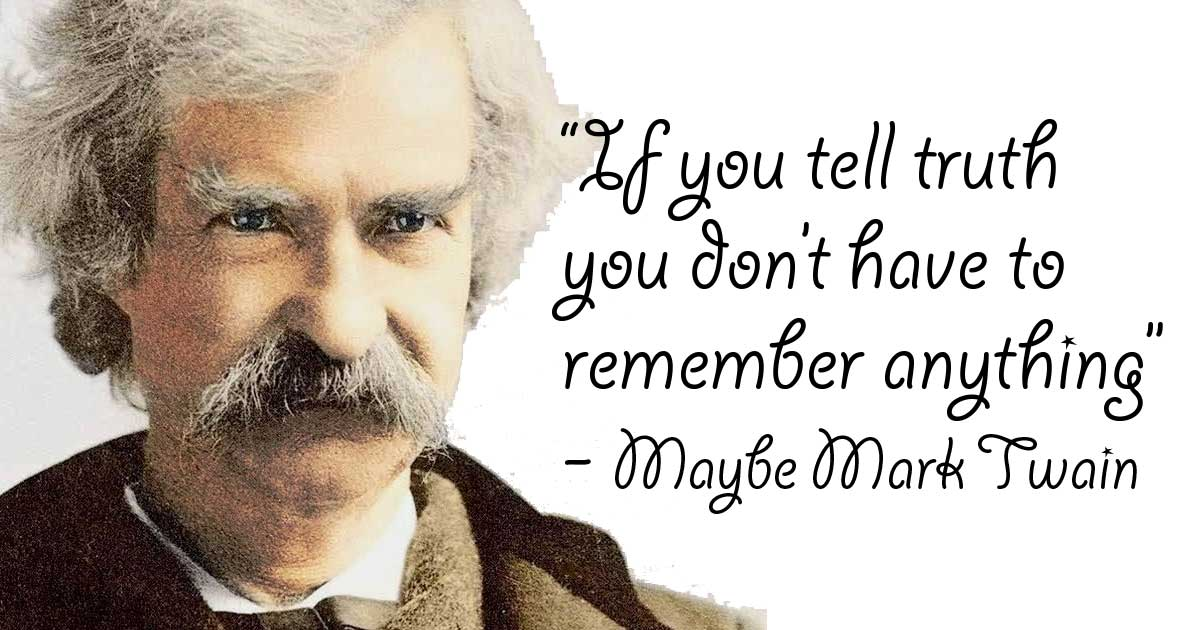 Mark Twain Quote Truth