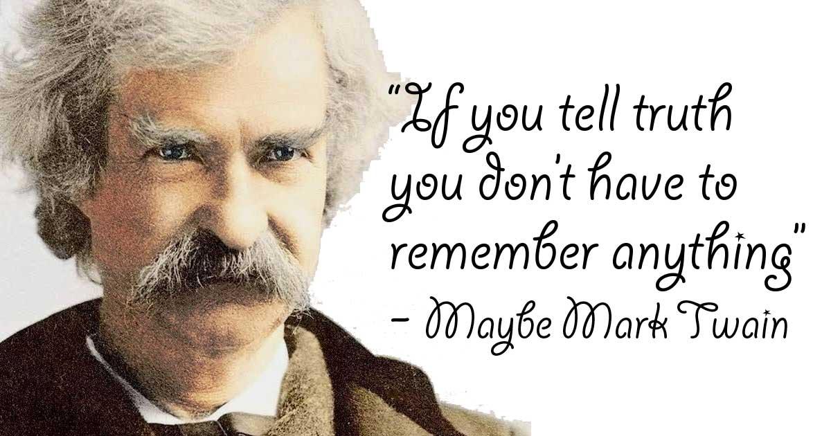Mark Twain Quote Truth