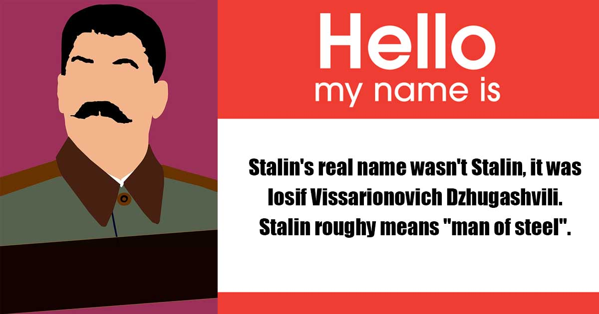 lenin and stalin are real names fact or myth