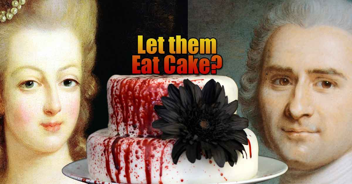 Let them eat cake