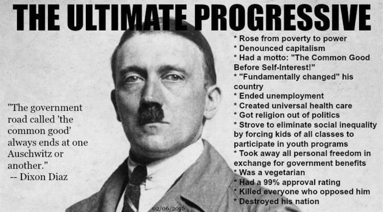 hitler not a progressive despite some planks hitler was a left wing socialist liberal fact or myth?