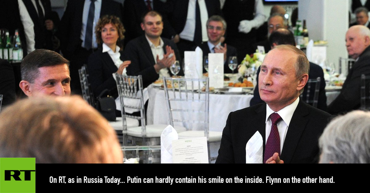 """Image result for michael flynn """"russia today"""""""